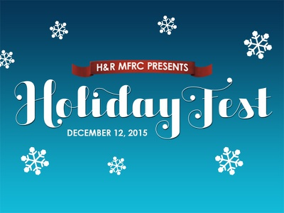 H&R MFRC Holiday Fest Teaser vector holidays lettering posters