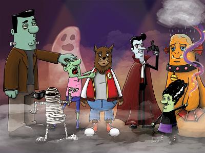 Halloween 2016 wacom character design digital painting illustration halloween