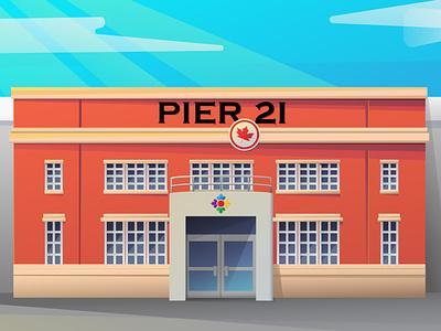 Halifax's Pier 21 design illustrator cc vector illustration
