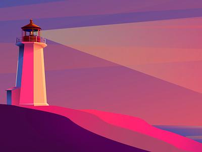 Peggy's Cove! graphic design flat design illustrator vector illustration
