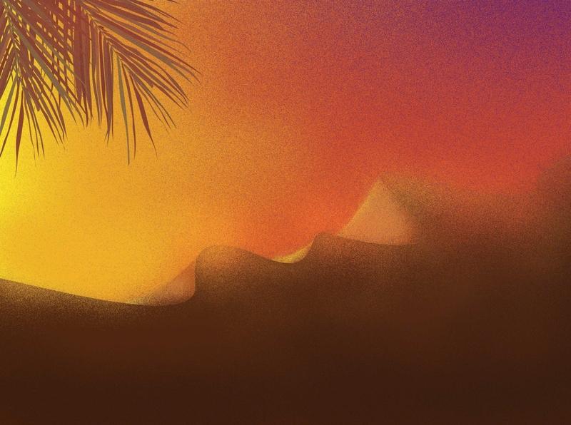 DESERT dailydesign design dribbler dribble shot landscape desert illustraion