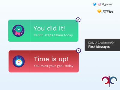 Daily Ui Challenge #011: Flash Messages flat daily ui challenge 011 daily ui 011 ui flash messages dailyui challenge daily ui challenge