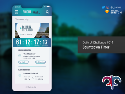 Daily Ui Challenge #014: Countdown Timer