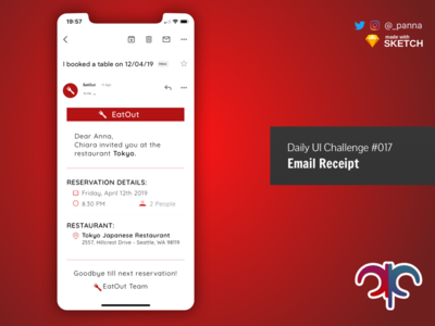 Daily Ui Challenge #017: Email Receipt email daily ui 017 daily ui challenge ui challenge daily ui