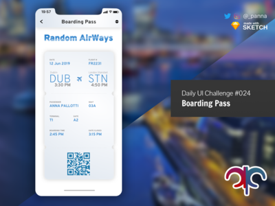 Daily Ui Challenge #024: Boarding Pass boarding pass daily ui design ui dailyui challenge daily ui challenge