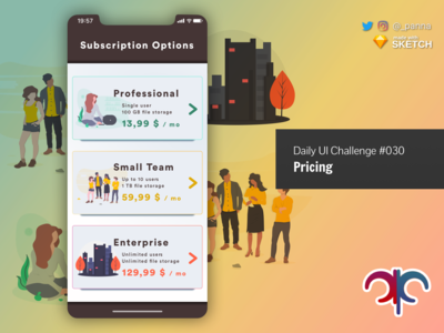 Daily UI Challenge #030: Pricing illustration pricing daily ui dailyui design daily ui challenge challenge
