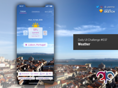 Daily UI Challenge #037: Weather weather app ui challenge ui design app daily ui design dailyui challenge daily ui challenge
