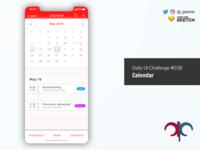 Daily UI Challenge #038: Calendar