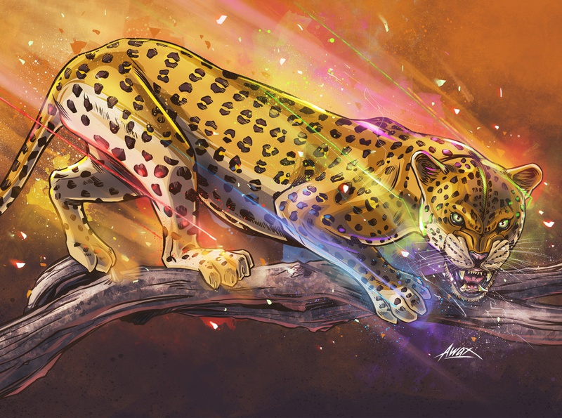 Panthera Pardus (Leopard) awax leopard art illustrator digital painting drawing awax design