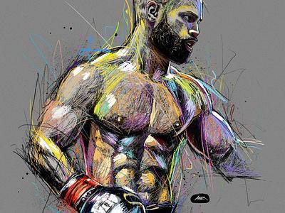 Magnum art photoshop colorful awax portrait illustration illustrator digital painting drawing awax design