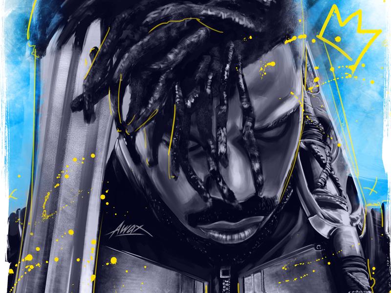 Wakanda Gang awax design dc comics marvel king portrait black panther comicsart comics michael b jordan kill monger wakanda