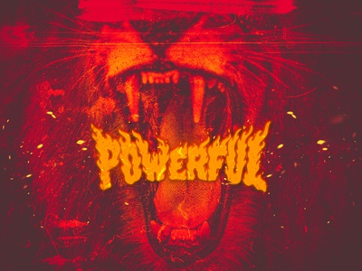 Powerful king power red powerful mouth lion roaring design wallpaper brush photoshop illustrator digital painting drawing awax design