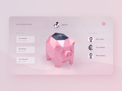 Contactless Piggy Bank - Dashboard