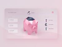 Contactless Piggy Bank - Dashboard