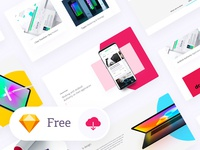 Freebie -> UI / UX Sketch Template