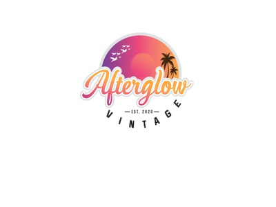 Afterglow typography icon design illustration vector logo
