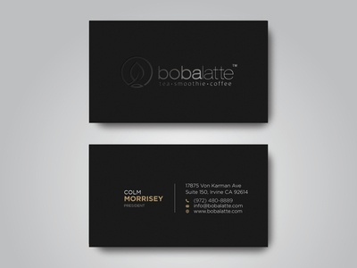 Tea Shop Business Cards