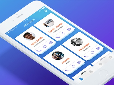 Contacts App Concept icon color ux ui app contacts mobile