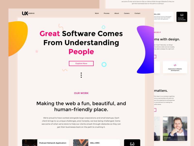 User10 Agency Landing Page identity minimal lettering type design apple flat website color illustration web design icon branding web typography ux ui