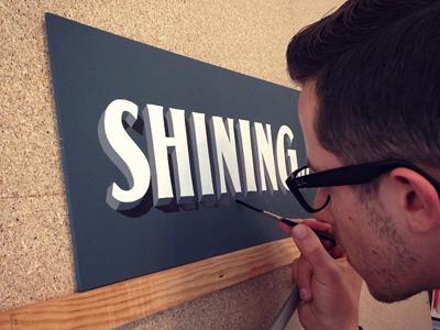 Shining lettering handlettering handmade mock block signs sign painting handpainting handpainted
