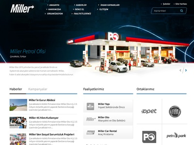 Miller Auto/Gas Station typography web design ui
