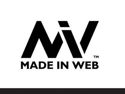 Made in Web Logo typography branding logo