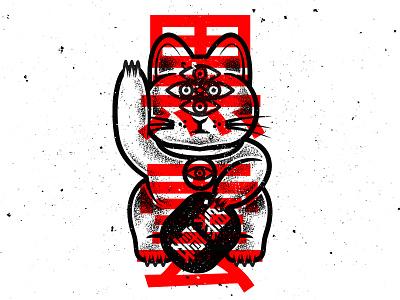 BLACK FORTUNE graphicdesign drawing cat vectorillustration graphic vector design tattoo illustration art vectordesign