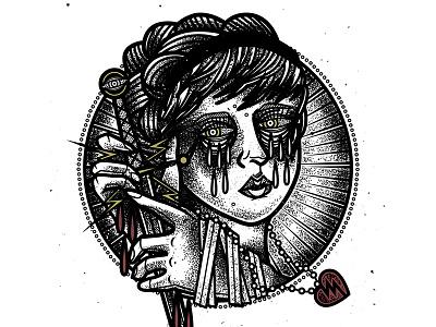 Caring and Killing tattooflash graphic vector tattoodesign tattoo art drawing design illustration