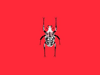 beetle series beetle illustrator photoshop animated art minimalism daily simple minimal dribbbledaily design illustration