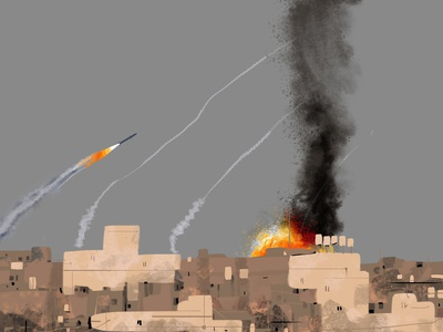 ❗️ explosion missile icon currentaffair war painting vector illustration art israel logo ui photoshop animated art minimalism daily minimal dribbbledaily design illustration