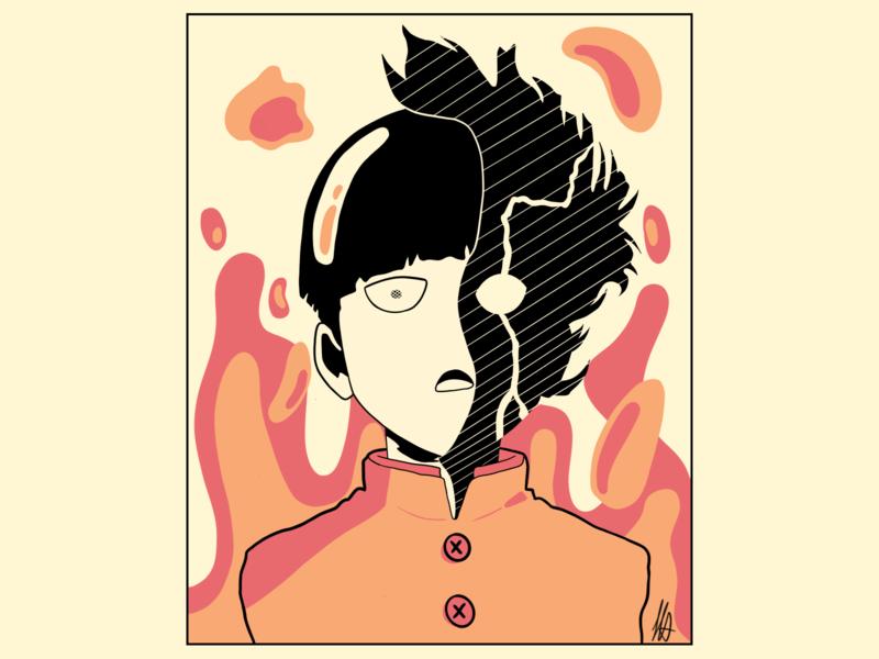 Mob - Mob Psycho 100 anime art ilustração ilustration mob mob psycho 100