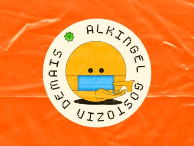Alkingel gostozin demais 👌 álcool em gel ilustration sticker hands sanitizer coronavirus covid-19