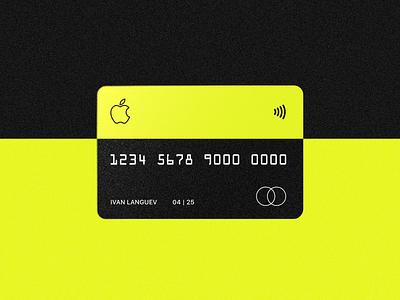 Сredit Сard branding vector typography clean web ui minimal lending flat design