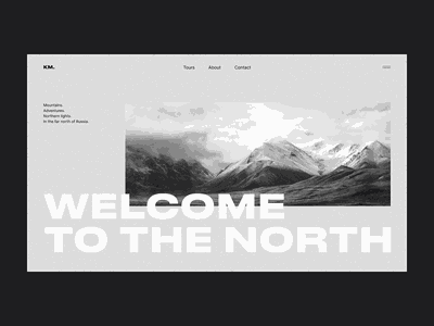North identity product design branding webdesign web typography clean ui minimal flat design