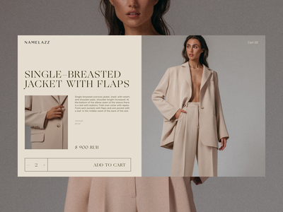 Fashion online shop – Namelazz redesign ecommerce ux shop webdesign typography web clean ui minimal flat design
