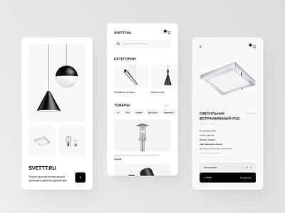 SVETTT.RU – Mobile App Design Concept ux app typography web webdesign mobile app clean ui minimal flat design