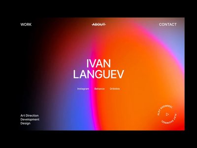 LANGUEV – new website portfolio vector lending webdesign typography web flat clean ui minimal design