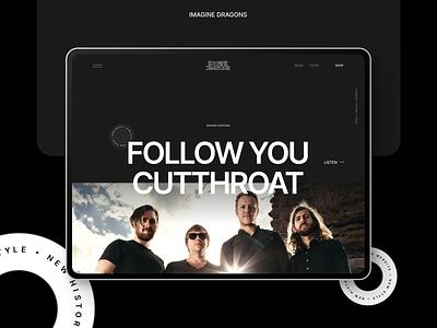 Imagine Dragons — New Website 2021 case behance ux concept music imagine dragons rock branding logo ui illustration typography flat web clean minimal design