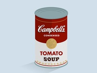 Campbell soup soup campbell andy warhol flat tomato