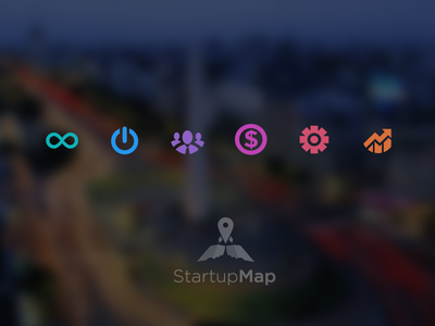 Icons Startup Map startup map latin icon flat coworking investors acceleratos incubators