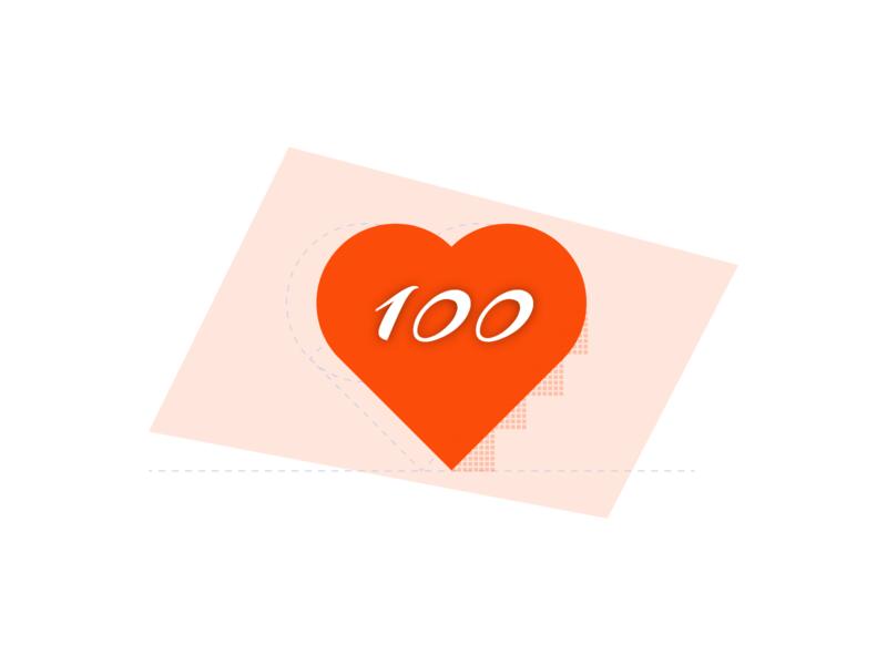 Finally 100 follower 100days 100daychallenge 100 logo website ux ui adobe xd design