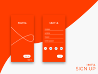 Meetful App and Sign up screen