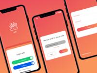 Login screen - App