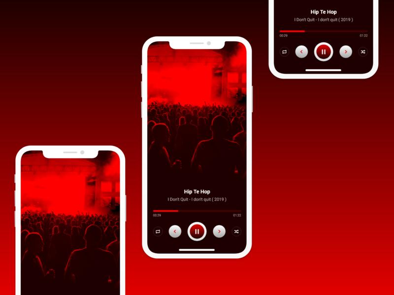 Music Screen branding colors mobile adobe xd ui design beats play button play music design music album music player music app