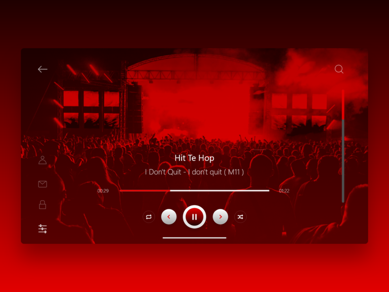 Sound _ Songs Screen web adobe xd design colorful colour music website music website concept website design website music album concept music website
