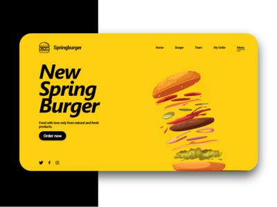 Spring Burger - Concept