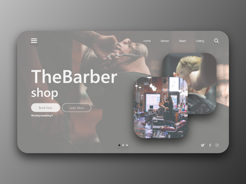 The Barber Shop - Webdesign black  white webdesign website beard cutting service design service