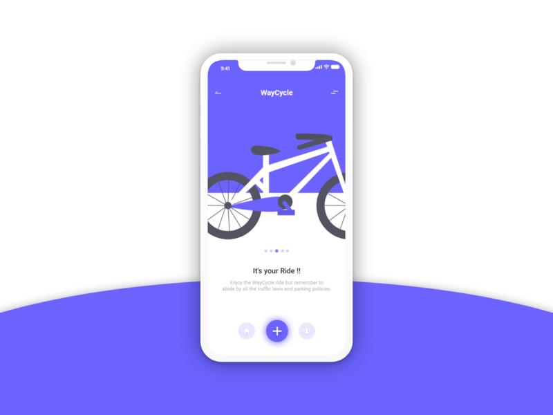 Bike App - Design app design ux adobe xd ui dailyui design blue back menu mobile app waycycle branding color bike ride ride bike
