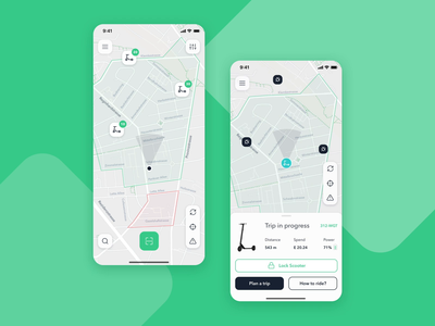 RunBike. Electric Scooter Sharing App