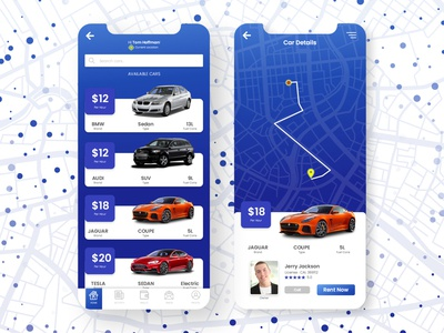 Rent Car UI app